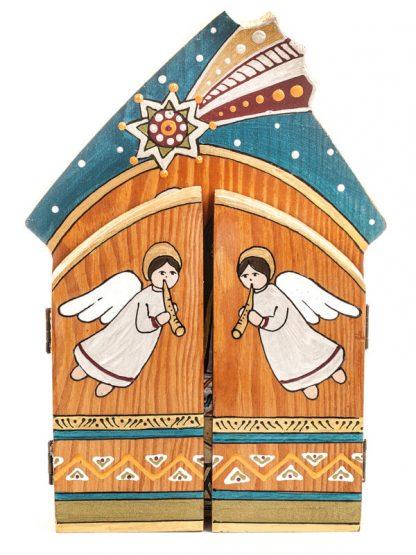 tríptico madeira presépio koza dereza ucrânia sagrada família