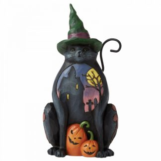 6006697 jim shore heartwood creek gato preto halloween