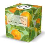 vela votiva soja heart and home manjericão lima tangerina lime basil