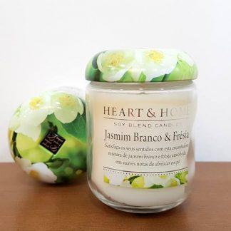 jasmim e f´résia heart and home vela de soja