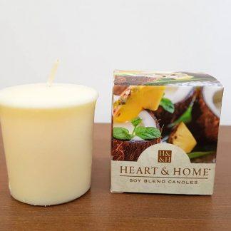 votiva soja heart and home pinacolada
