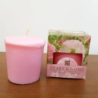 rosa errante heart and home vela soja