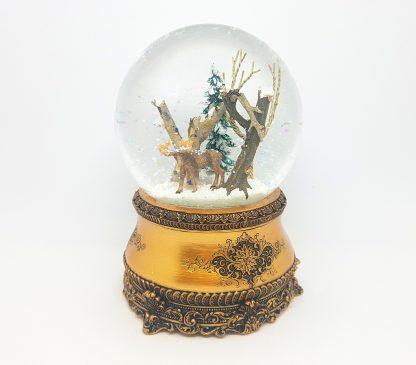 51090 alce floresta globo de neve snowglobe music box