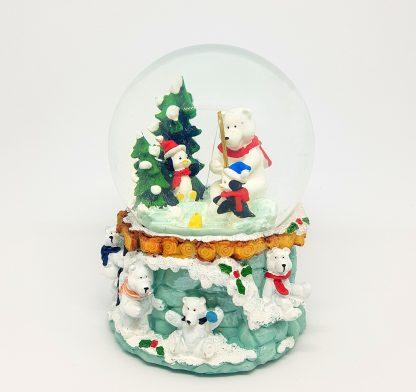 globo de neve christmas snowglobe natal caixa de música