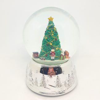 globo de neve christmas snowglobe natal caixa de música urso polar