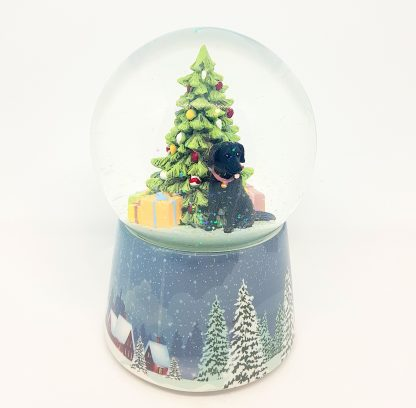 snowglobe labrador preto natal santa claus