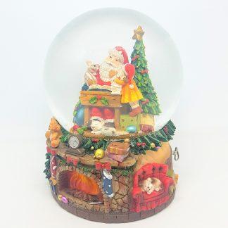 snowglobe santa claus caixa de música globo de neve natal