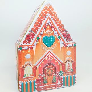 silver crane lata tin gingerbread house casinha natal