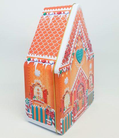 silver crane lata tin gingerbread house casinha natal