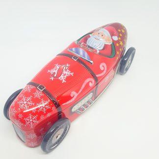 lata tin racing car santaclaus pai natal carro de corrida