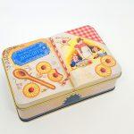 the silver crane lata livro de natal pinheiro tin homemade cookies bolachinhas