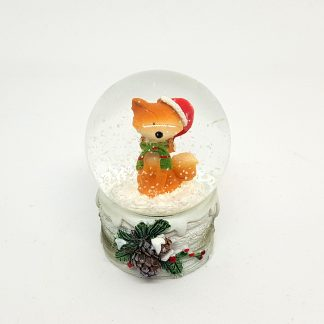 globo de neve raposa natal