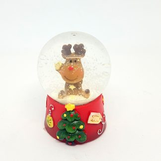 natal globo de neve rena rodolfo