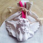 anjo asas gesso perfumado baptizado comunhão baptismo agostinha