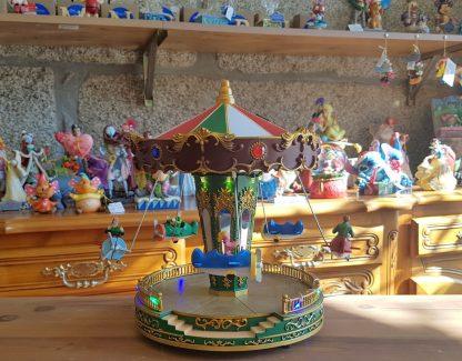 caixa de música carrossel feira natal