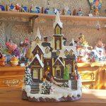 igreja cenário natal pai natal aldeia natal
