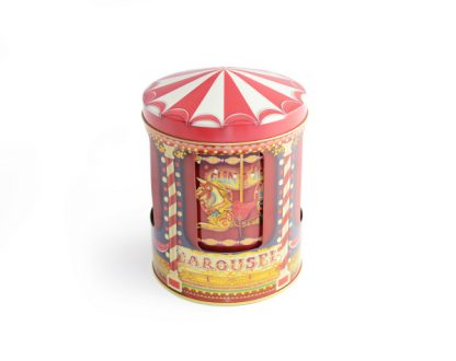 10580110 carrossel funfair música caixa de música the silver crane lata tin