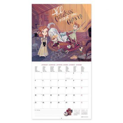 vcal21045 peter pan & wendy calendário legami