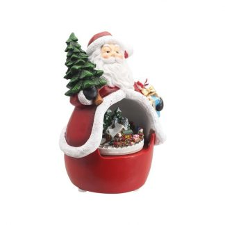 globo de neve christmas snowglobe natal caixa de música santa claus pai natal