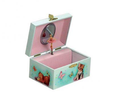 28052 caixa de música bailarina gatinhos gato