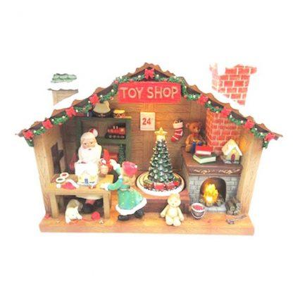 59004 pai natal musical oficina caixa de música