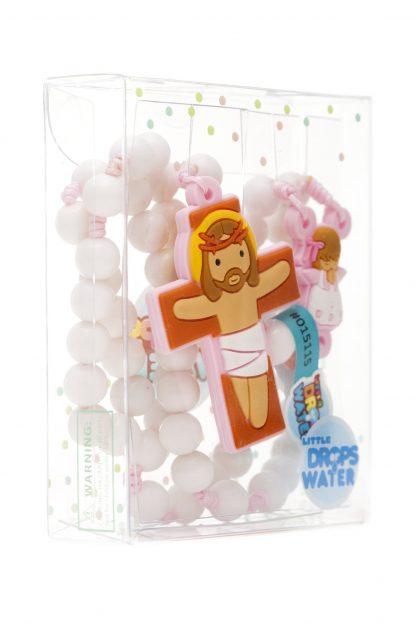 rosário terço little drops of water anjo da guarda rosa 18134