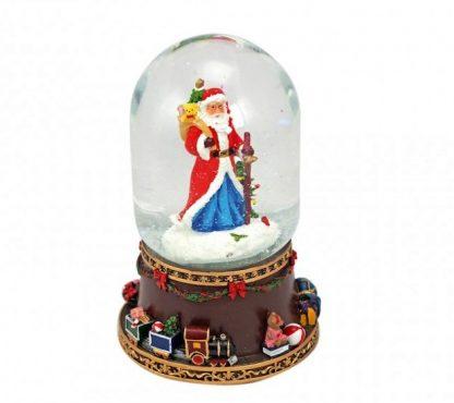 snowglobe pai natal caixa de música globo de neve