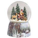 57009 snowglobe natal santa claus pai natal caixa de música