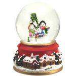 snowglobe natal santa claus pai natal caixa de música