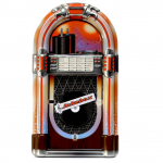 lata silver crane tin jukebox xl
