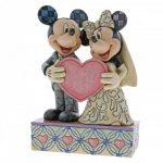 4059748 mickey minnie casamento topo de bolo jim shore disney traditions