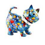 pomme pidou cat gato kiki azul mealheiro