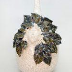 rosto cara rita macedo cerâmica jarra vaso decorativo