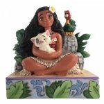 Welcome to Motunui - Moana with Pua and Hei Hei Figurine 6008078 disney traditions jim shore vaiana