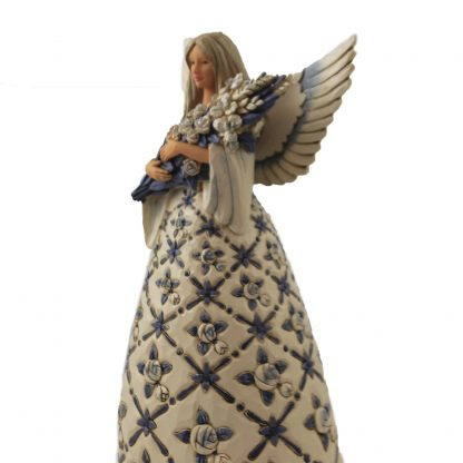 Behold the Beauty of Each Blessing - Blue Angel with Roses - 6007125 jim shore heartwood creek