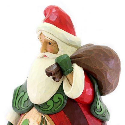 Santa with Bag Statue 6004321jim shore pai natal