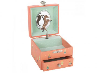 Trousselier - S20073 - Boite à Musique Cube Mémoire d'Enfance - Jeanne Lagarde caixa de música bailarina