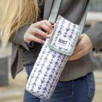 BUILT Insulated Bottle Bag with Shoulder Strap and Food-Safe Thermal Lining - White saco para garrafa térmica belle vie
