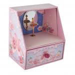 BALLERINA THEATER PINK AND PURPLE TURNING BALLERINA MUSICAL JEWELRY BOX - PLAYS WALTZ OF BRAHMS 28069 caixa de música bailarina