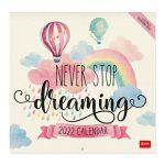 calendário legami alice in wonderland alice no país das maravilhas 22052 never stop dreaming