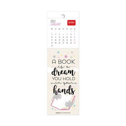 legami Calendário 2022 marcador livros: This year I choose to be happy