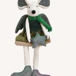 decoração natal peluche ratinha