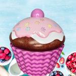 001705 large cupcake xl lata silver crane