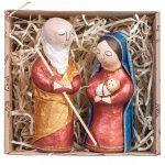SET №07 • JOSEPH AND MARY IN A CRAFT BOX 2017000021 koza dereza artesanato ucrânia