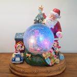 globo de neve santaclaus pai natal globo de neve caixa de música cena eléctrica