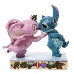 Mistletoe Kiss - Stitch and Angel with Mistletoe Figurine 6008980 jim shore natal