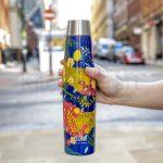BUILT Apex 540ml Insulated Water Bottle - 'Abundance' Design garrafa térmica built ny