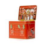 """Kitchen buffet Christmas"" Cookie jar retro style´lata bolachas natal fogão retro silver crane"
