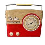 Radio tapared red/brown 001 648 lata rádio silver crane