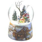 58011 snowglobe sleigh globo de neve natal trenó caixa de música